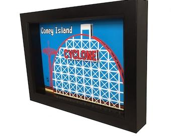 Coney Island Cyclone Coney Island Print Brooklyn Art Coney Island Cyclone Print 3D Art Coney Island Poster Coney Island Art Brooklyn Print