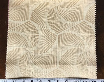 Custom Curtains Valance Roman Shade Shower Curtains in Champagne Modern Swirl Pattern Fabric
