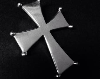 LARGE Solid Sterling Cross, Heavy and Gorgeous. Make a Statement!