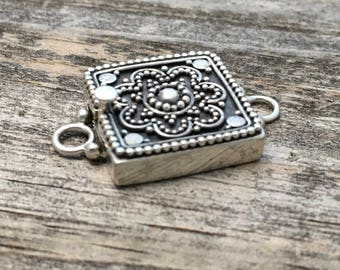 Sterling Silver Box Clasp Sterling Silver Square Box Clasp