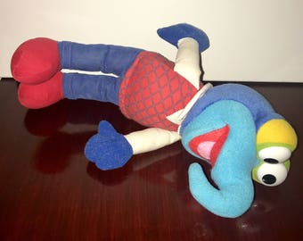 "vintage 1991 Jim Henson muppets gonzo 13"" plush toy"
