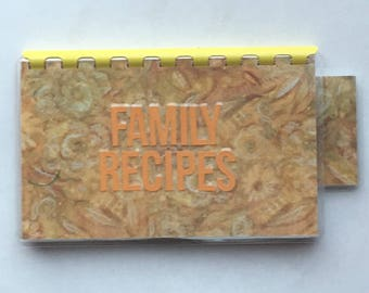 Handmade Brown 'Family Recipes' Blank Recipe book for Your Personal Recipes