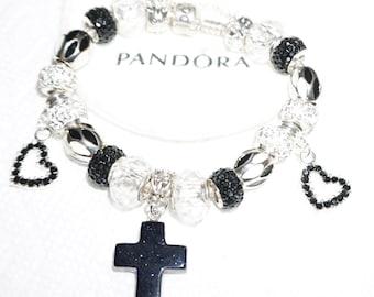 Authentic Pandora Bracelet Elegant in Black White