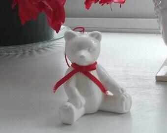 Dept 56 White Teddy Bear Ornament