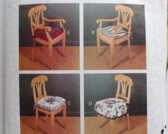 Easy To Do Chair Pads By Waverly Home Decor - Home Dec Sewing Pattern - Butterick 3278