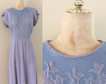 "30% OFF 1960's Lavender Lace w/ Illusion Bust Wiggle Dress Vintage Dress Size Medium 28"" Waist by Maeberry Vintage"
