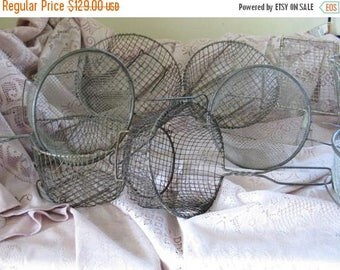 Vintage Fry Basket Instant collection Egg Baskets Rustic Nordic French Cottage Chic