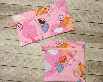 Child Zipper Bag, Fairy Princess Zipper bag