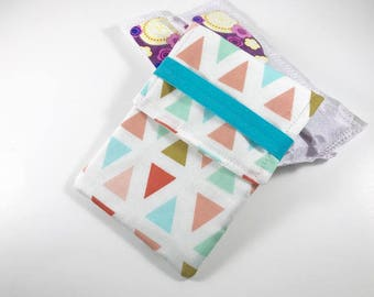 Tampon Case, Tampon Holder, Tampon Wallet Triangles