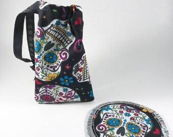 Skulls Menstrual Cup Bag, Menstrual Cup Pouch, Menstrual Cup Holder