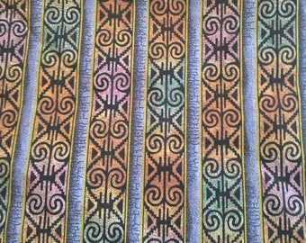 Beautiful Multicolor Geometric Stripes David Behrens Studio Five Cent Peace X0955