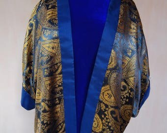 Brocade silk cardigan. Pure silk jacket