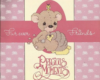 "Designs by Gloria & Pat Precious Moments ""Furever Friends"" Cross Stitch leaflet"