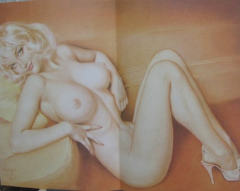 1963 December Birthday Playboy Pinup Girlie Vargas Original