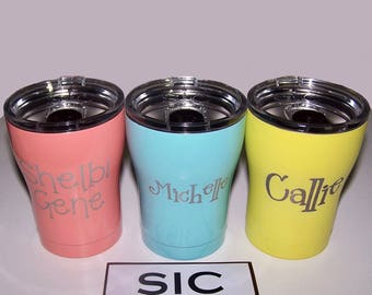 Personalized tumbler, Sic cup, 12 oz SIC cup, Laser engraved SIC tumbler, Stainless Steel Tumbler, Powder coated tumbler,Monogrammed Sic Cup