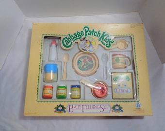 Vintage 1983 Cabbage Patch Kids Baby Feeding Set Children's Toy