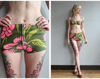 1960s Bikini // Kahala Hawaiian Bikini // vintage 60s swimsuit