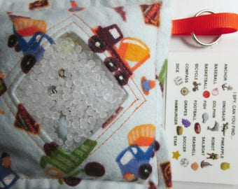 I Spy Bag Game Construction Trucks, Boys, car vacation travel toy, Eye Spy Game, seek and find, sensory occupational therapy, busy bag, gift