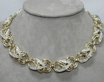 MARBOUX / Marcel BOUCHER Signed Numbered Gold & Rhinestone Choker Necklace    OFA15