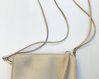 COACH, Vintage, Bone Leather, Zippered, Clutch, Shoulder Bag, Crossbody Bag, Wristlet, Circa 1977