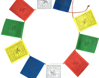 Mini Wind Horse Tibetan Prayer Flags From Nepal Set of 10 Flags PF-21