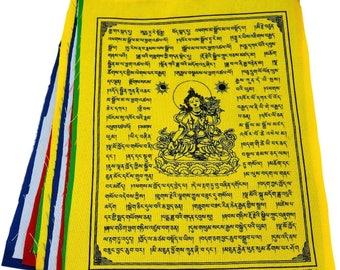 White Tara Tibetan Prayer Flags From Nepal Set of 10 Flags