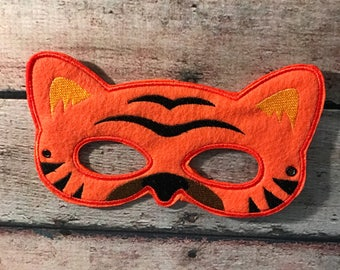 Tiger Mask, Felt Mask, Tiger Mask, Adult Mask, Machine Stitched, Pretend Play Mask, Child Mask, Animal Mask, Felt Animal Mask, Kids Mask