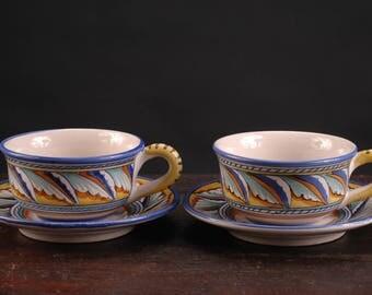 Vintage Starbucks, Sberna, Deruta Large / Jumbo Cup and Saucer, Italy