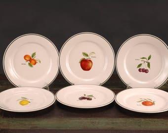 Jardin de France Salad / Dessert Plates, Ulster Ceramics PLC, Ireland, Set of 6