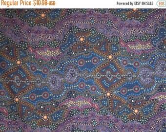 ON SALE Rich Yalke Aboriginal Print Pure Cotton Fabric--By the Yard