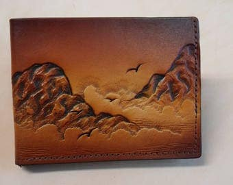 Men's Leather Wallet / Slim / ID Section