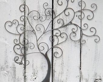ON SALE Metal Tree / Tree Wall Art / Patina / Tree Of Life Wall Decor
