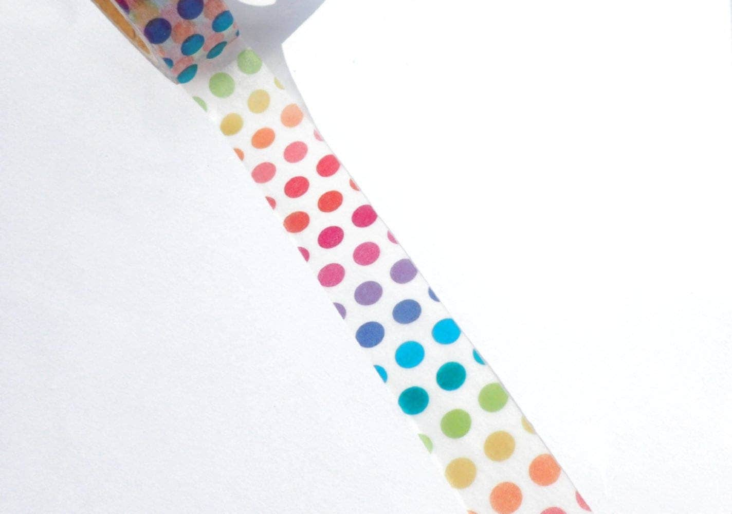 Rainbow dot washi tape paper tape great for scrapbooking paper rainbow dot washi tape paper tape great for scrapbooking paper crafts and decorations and pride celebrations 15mm x 10m jeuxipadfo Images