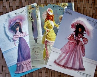 Paradise Publications Crochet Collector Costume CHOICE Pattern Vol. 5, 8, 13 or ALL - Promenade Dress, Gainsborough Lady, Countryside Attire