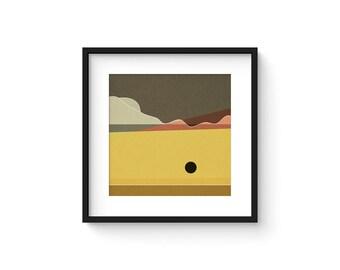 LANDSCAPE & BEYOND no.100 - Abstract Modern Minimalist Landscape Mid Century Style Art Print