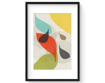 FLOW no.28 - Giclee Print - Mid Century Modern Danish Modern Style Minimalist Modernist Eames Abstract