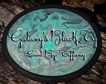 NEW** Teal Acrylic Pour Custom Stall Sign