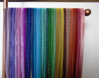 3mm Mesh Chain Necklace BUY 4 GET 1 FREE~Hollow Snake Chain fits European Charms and Beads Choice of Color and Size