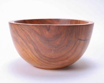"""Wild Black Cherry Wooden Bowl #1552  8 1/4"""" X 4 1/4"""""""