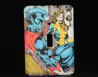 Excalibur Night Crawler Kitty Pryde Comic Book Switch Plate Wallplate Light Cover Xmen