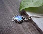 Custom Order - Sterling Silver Moonstone Pendant - Rainbow Moonstone
