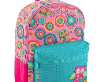 Personalized Stephen Joseph Girls Backpack, OWL Backpack, Girls Rucksack, Toddler Backpack, Preschool Backpack, Girls Book Bag