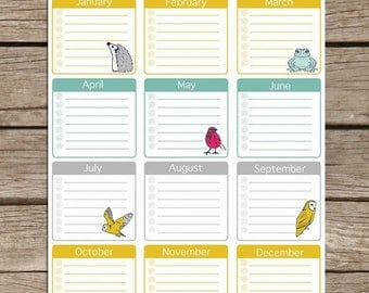 50% OFF Yearly Planner Printable - Printable Planner Pages - To Do List Planner Printable - Digital Planner PDF Download - Year To View Plan