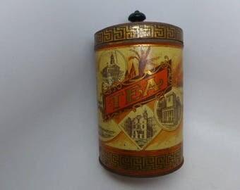Boston Harbor Tea Tin - Antique Tea Tin - Vintage Tea Tin - Lithograph Tea Tin