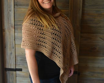 Crochet Wrap Pattern by April Garwood of Banana Moon Studio
