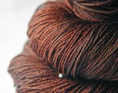 Burnt cinnamon roll - Merino/Silk Fingering Yarn Superwash