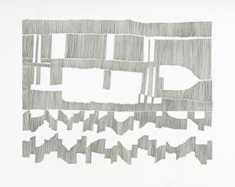 Chart 2, archival print / drawing / abstract contemporary art / cartography / music score / composition