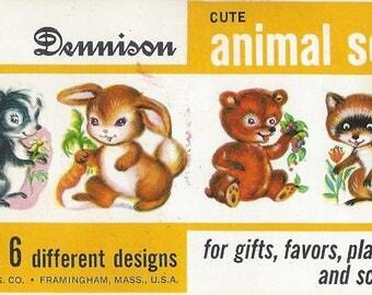Vintage Dennison Animal Seals, C1970s