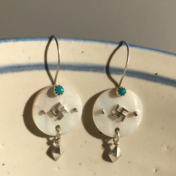 Navajo Whriling log earrings