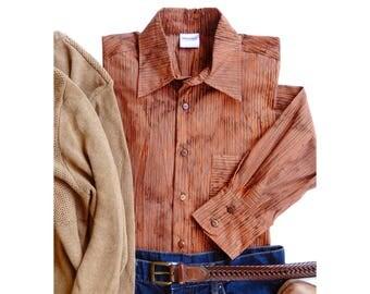 Casual Mens Shirt, Hipster Shirt, Handdyed Stripe Shirt, Mens Casual Shirt, Stripe Batik Shirt Hipster